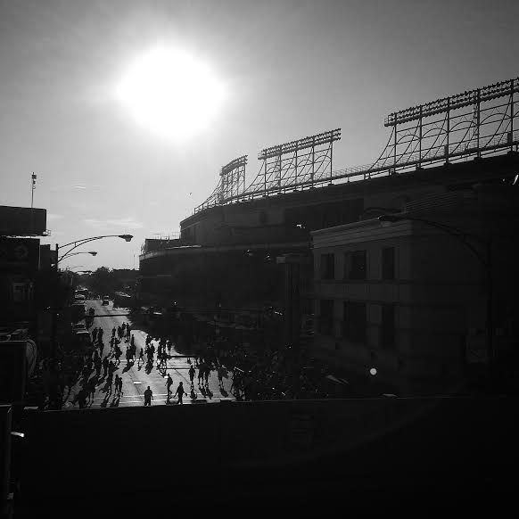 In the shadow of the stadium. (Photo courtesy of Schmitt, E/X-Rays Spex)