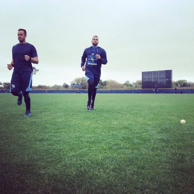 Evan Longoria and James Loney getting in some work Wednesday, in Port Charlotte. (Photo courtesy of the Tampa Bay Rays)