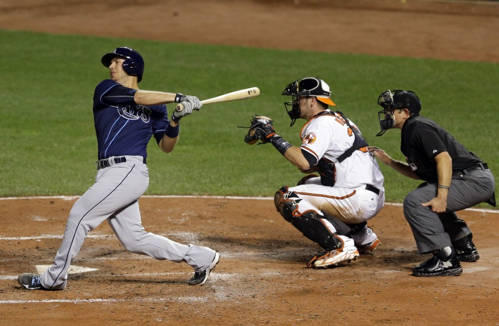The now former Rays' catcher J.P. Arencibia did not make the cut on Friday night.