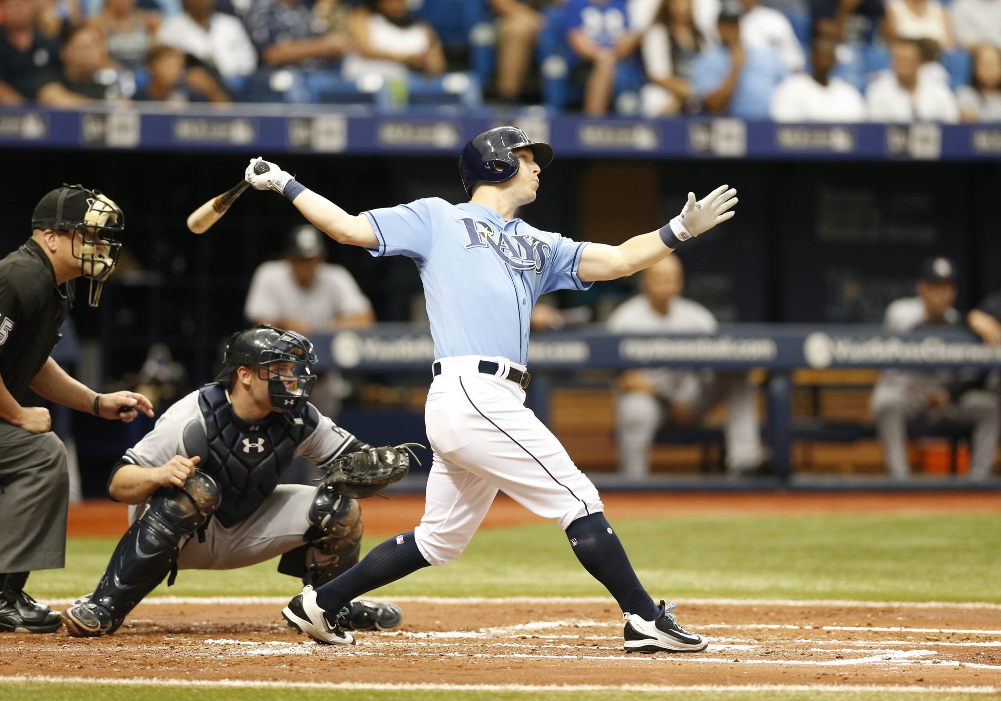 Corey Dickerson now has 36 extra base hits on the season. (Photo Credit: Tampa Bay Rays)