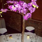 Purple Orchid centerpieces