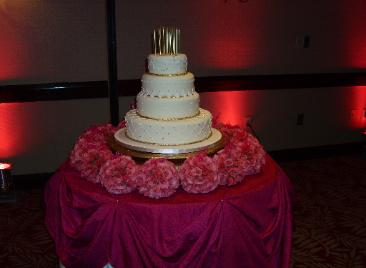 Cake flowers pink bouquets