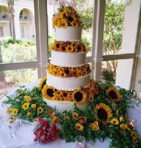 Sunflowers cake flowers decorations