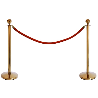 Brass Stanchion & red rope