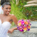Purple, orange,hot pink bridal bouquet