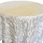 Pinchwheel Taffeta Tablecloth Rentals Ivory
