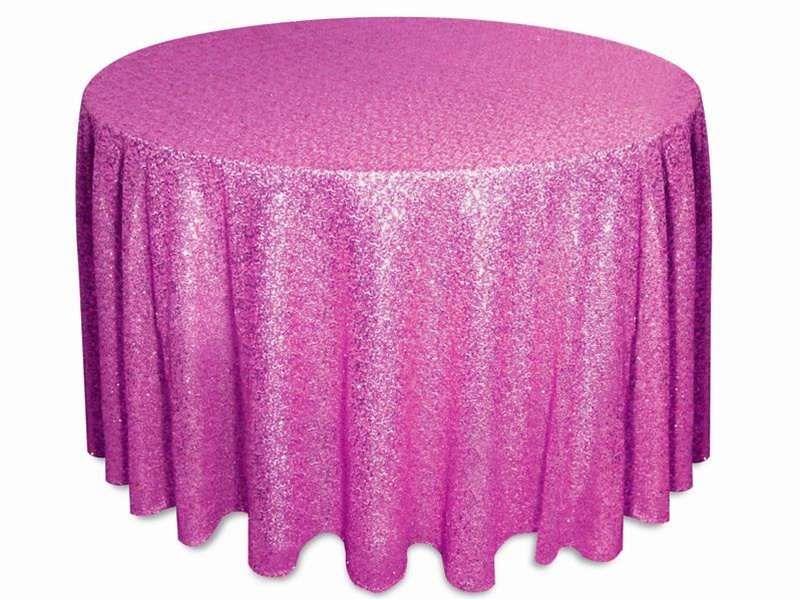 Glitz sequins tablecloths rentals Fuchsia