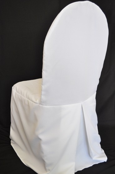Polyester banquet chair cover rentals white