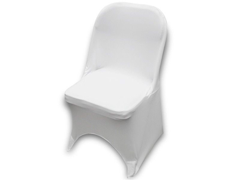 Folding chairs covers rentals white