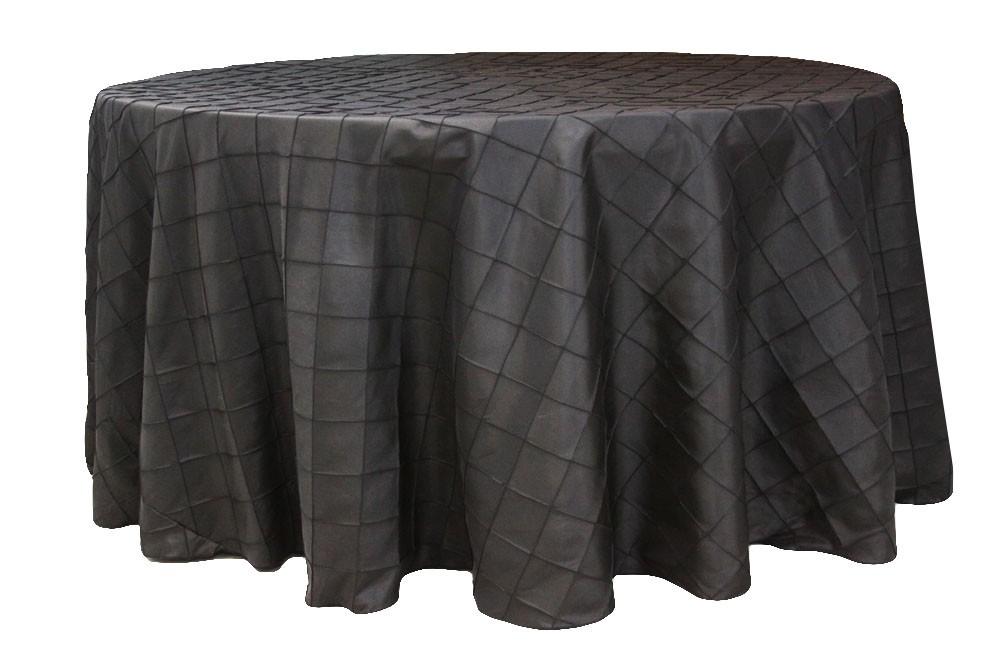 Pintuck tablecloths rentals-Black