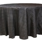 Pintuck tablecloths rentals-Black