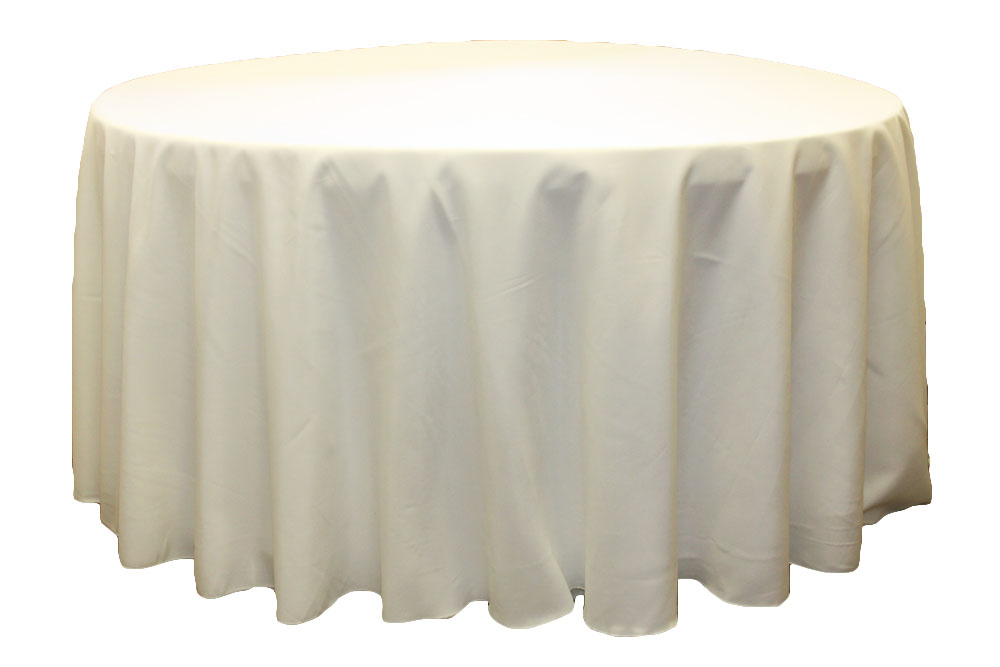 Polyester Tablecloths rentals-Ivory
