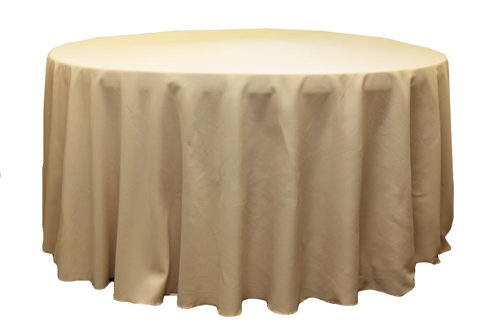 Polyester Tablecloths rentals-champange