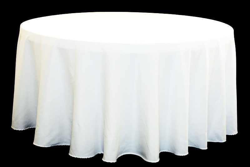Polyester Tablecloths rentals white