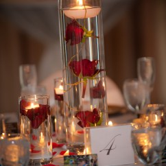 Will Folding Chair Covers Fit Banquet Chairs Blue Adirondack Under Water Red Roses Floating Candle - Blossom Events