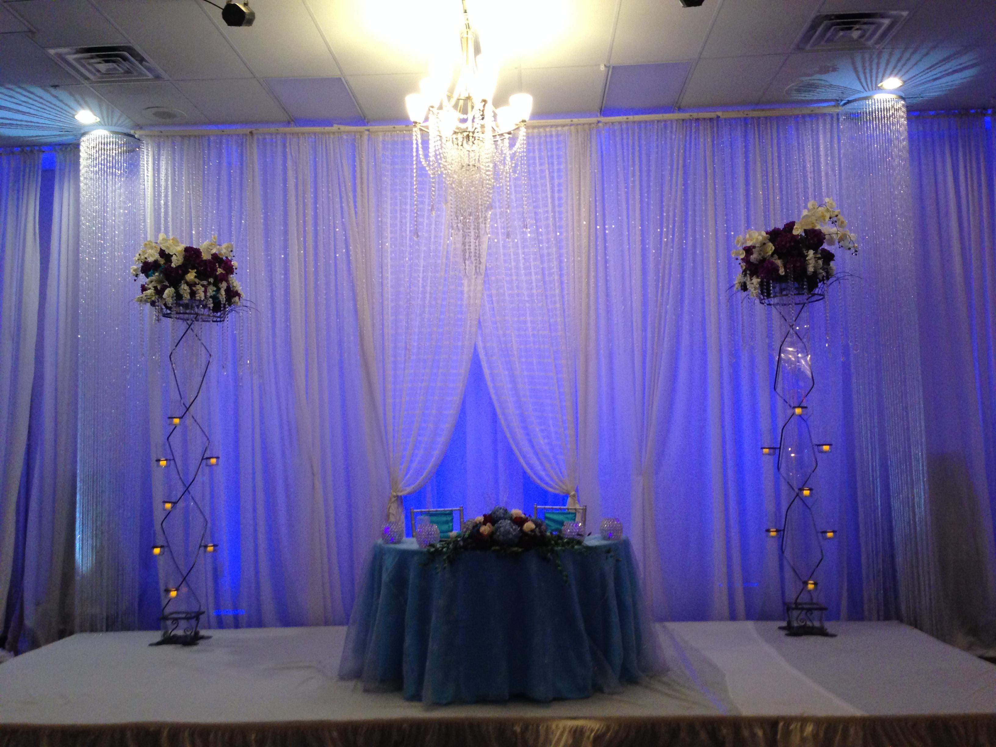 Simple white drape stage