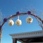 white roses Pomander Balls