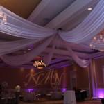 8 panes ceiling drape Sand Peal