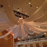 Ceiling Drape with lights at Heritage Spring