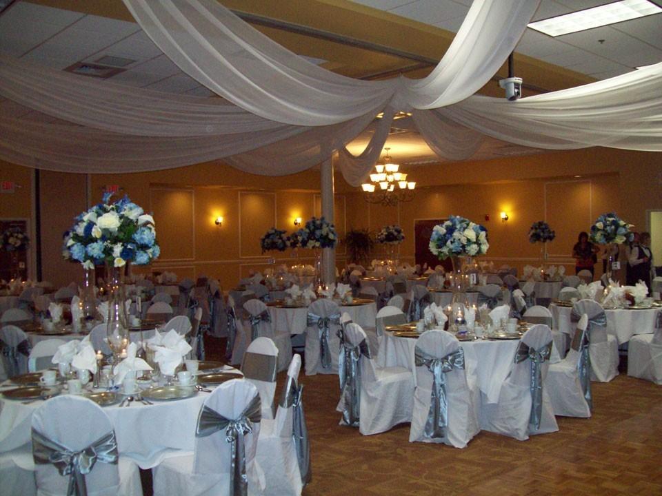 white ceiling drape at Bradenton