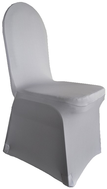 Spandex Chair Covers rentals silver