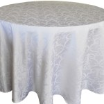 Versailles jacquard damask tablecloth rentals-white