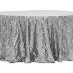 Scale Tablecloths Rentals - SILVER