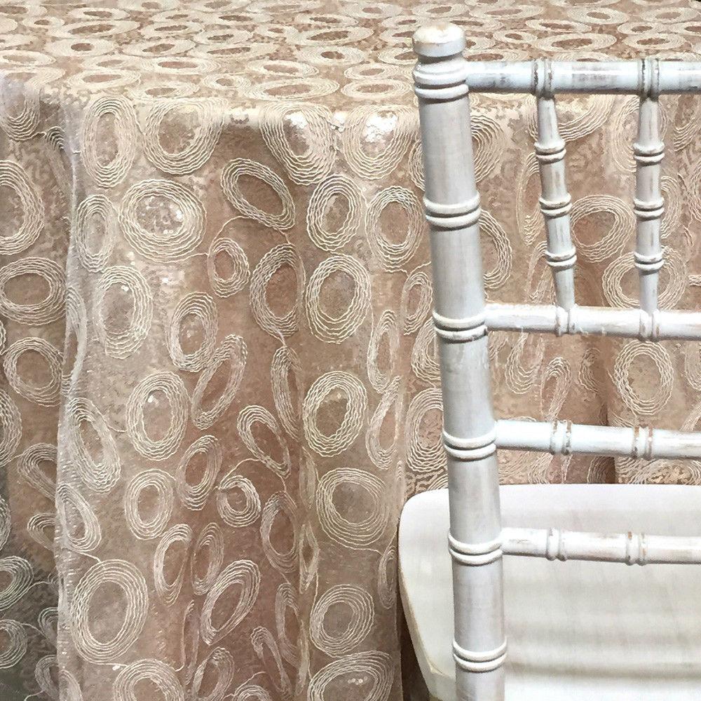Sienna Tablecloths Rentals Champagne