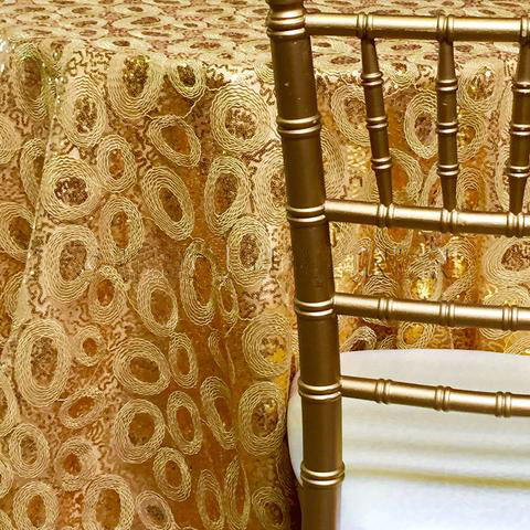 Sienna Tablecloths Rentals Gold