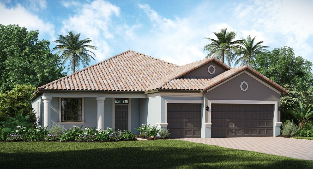 Concord-Station/The-Retreat/Sand-Dollar 2460 sq.ft. 4 Bedrooms 3 Bathrooms 3 Car Garage 1 Story Land O Lakes Florida