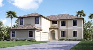 """beautiful two story 3711 sq ft """"Buckingham"""" home with four bedrooms and three baths and a super large bonus room upstairs and a three car garage"""