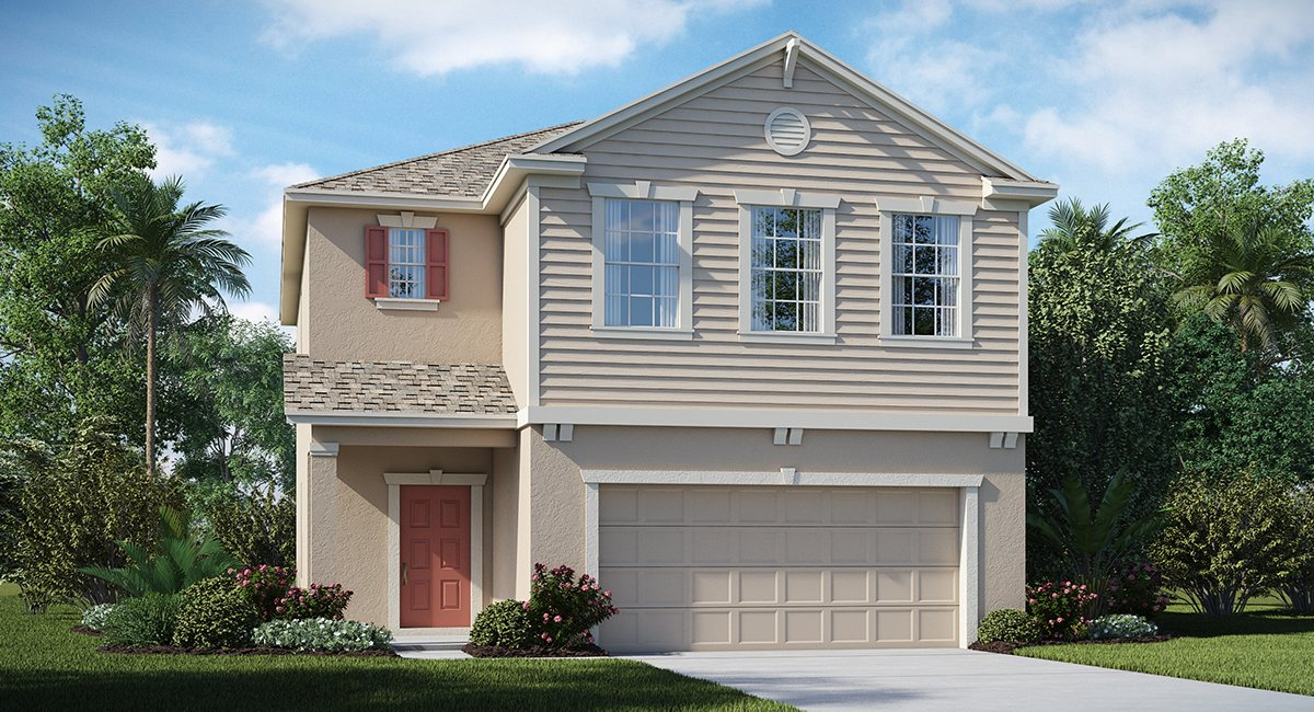 Belmont The Georgia 2,076 sq. ft. 3 Bedrooms 2 Bathrooms 1 Half bathroom 2 Car Garage 2 Stories Ruskin Fl