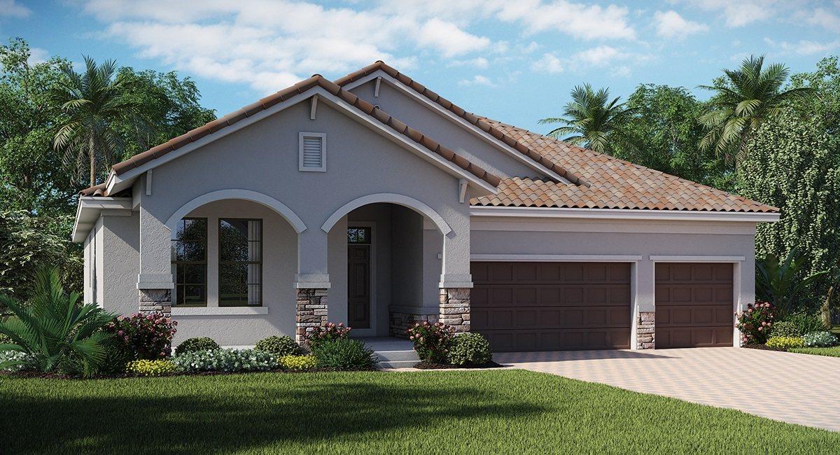 Waterleaf/Waterleaf-Executive/The Grande-Cayman 2,588 sq. ft. 4 Bedrooms 3 Bathrooms 3 Car Garage 1 Story Riverview Fl
