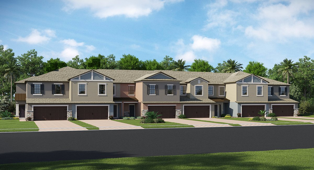 You are currently viewing Hidden Oaks Townhomes The Verona 2,466 sq. ft. 3 Bedrooms 2.5 Bathrooms 2 Car Garage 2 Stories Lutz Fl