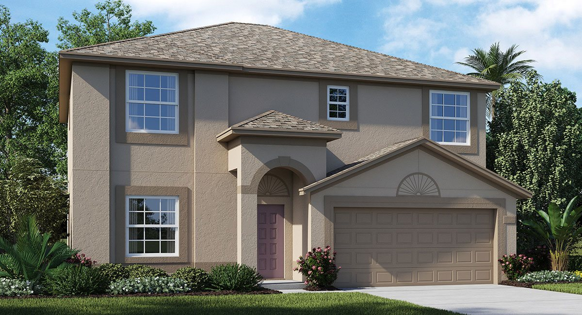 Ayersworth The Monaco 2,441 sq. ft. 4 Bedrooms 2.5 Bathrooms 1 Half bathroom 2 Car Garage 2 Stories Wimauma Fl