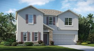 The Oaks at Shady Creek  The Rhode Island  2,533 sq. ft. 4 Bedrooms 2 Bathrooms 1 Half bathroom 2 Car Garage 2 Stories Riverview Fl