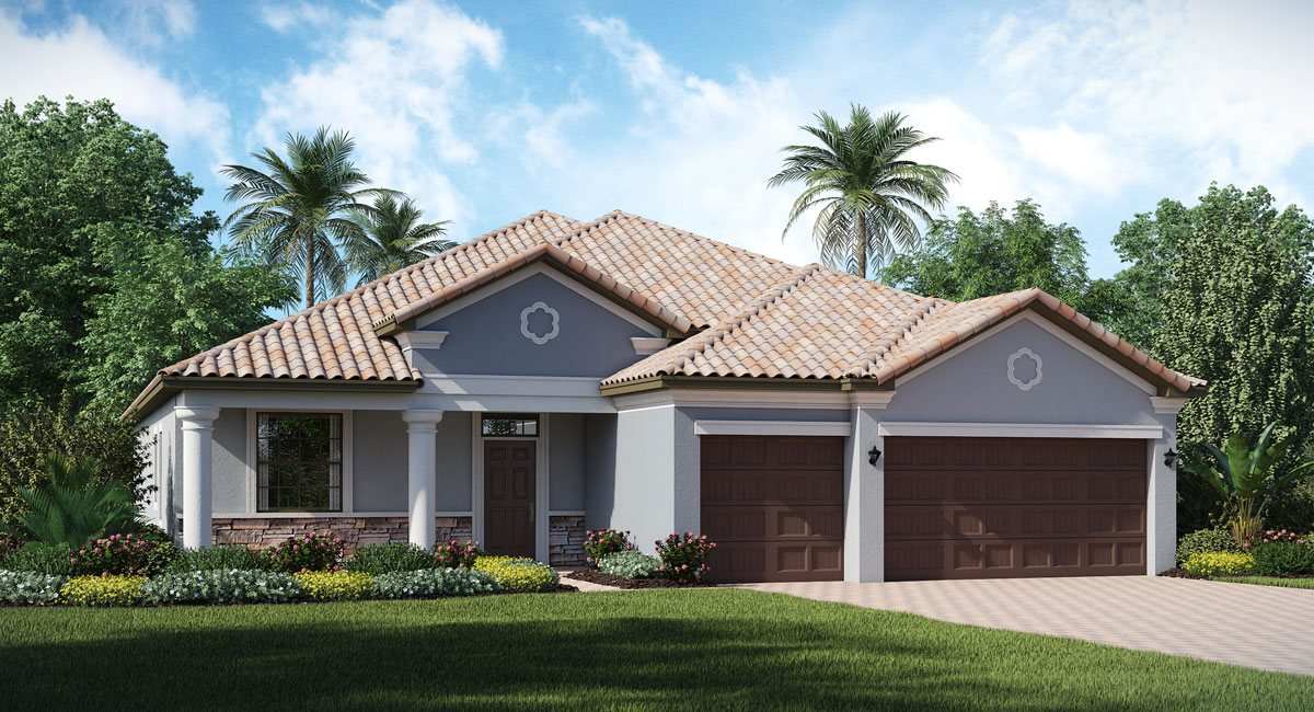Waterleaf/Waterleaf-Executive/The Sand-Dollar 2,460 sq. ft. 4 Bedrooms 3 Bathrooms 3 Car Garage 1 Story Riverview Fl