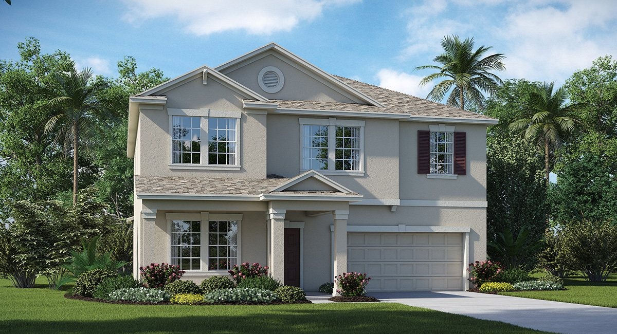 The Oaks at Shady Creek  The South Carolina 2,947 sq. ft. 4 Bedrooms 2 Bathrooms 1 Half bathroom 2 Car Garage 2 Stories Riverview Fl