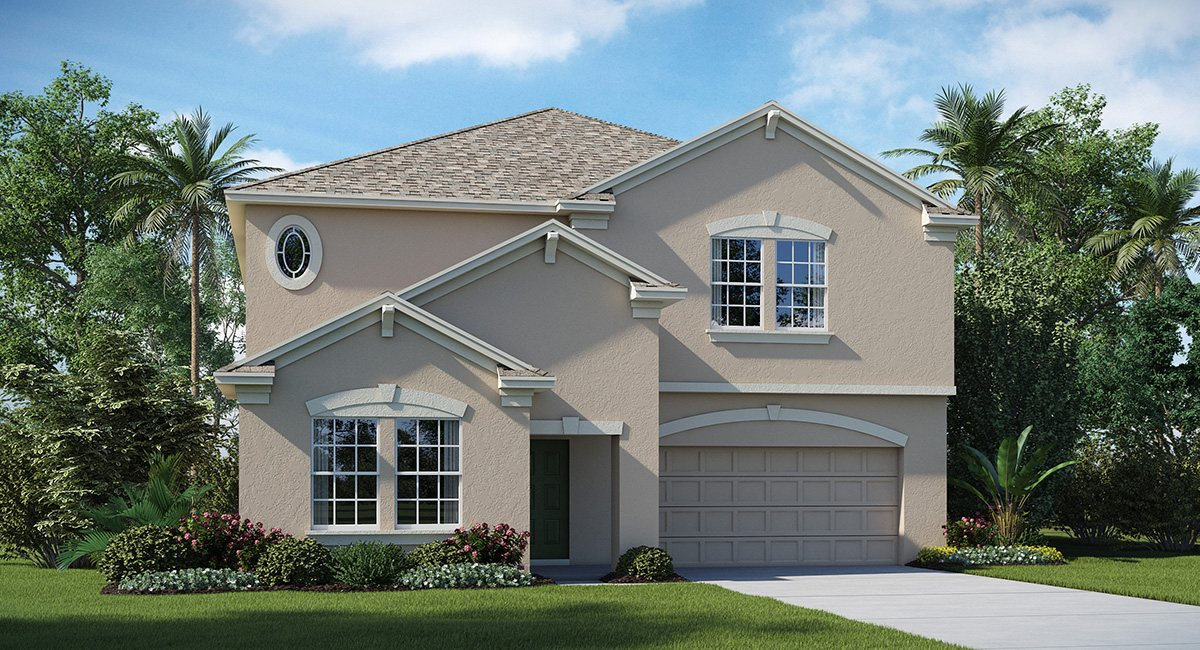 The Oaks at Shady Creek The Vermont 3,288 sq. ft. 5 Bedrooms 3 Bathrooms 3 Car Garage 2 Stories Riverview Fl