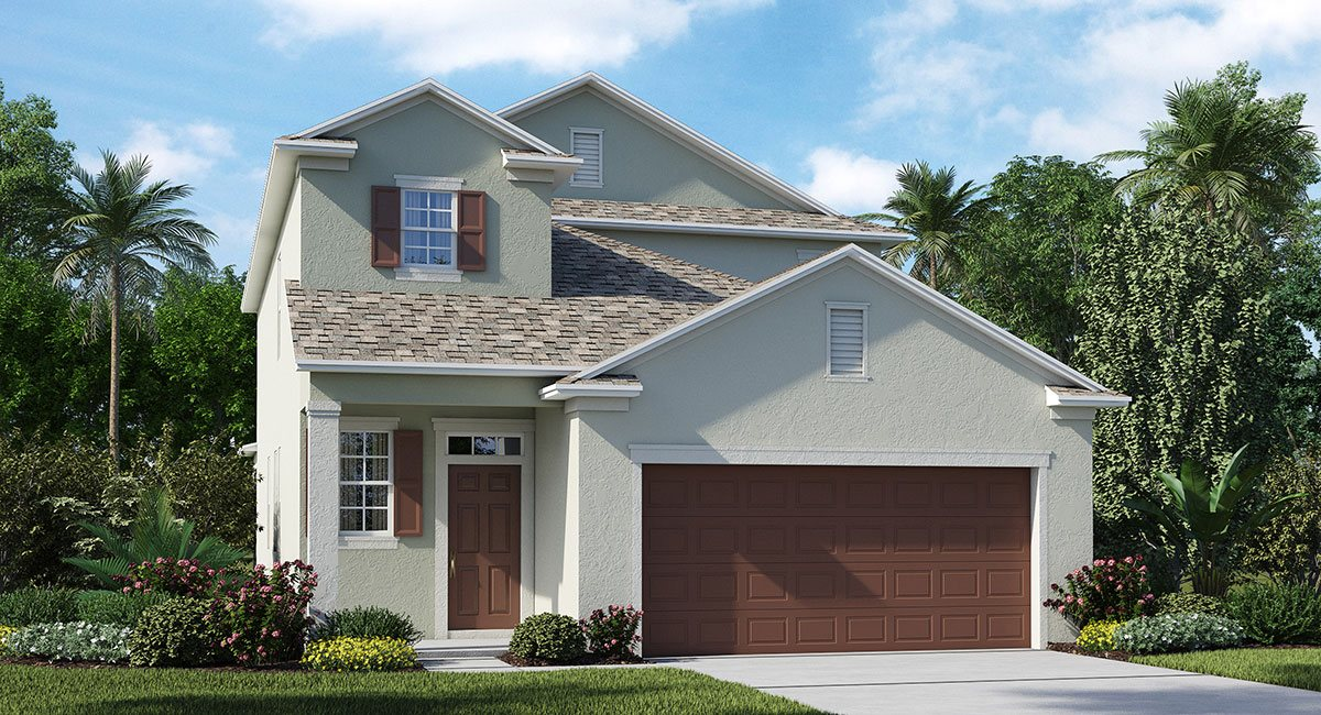 Connerton The Winthrop 2,507 sq. ft. 5 Bedrooms 3.5 Bathrooms 1 Half bathroom 2 Car Garage 2 Stories Land O Lakes Fl
