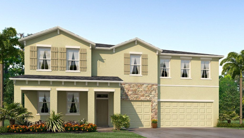 Avalon Park West The Dancourt 3,679 square feet 5 bed, 3.5 bath, 3 car, 2 story Wesley Chapel Fl