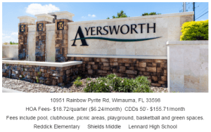 Ayersworth Glen Wimauma Florida 33598