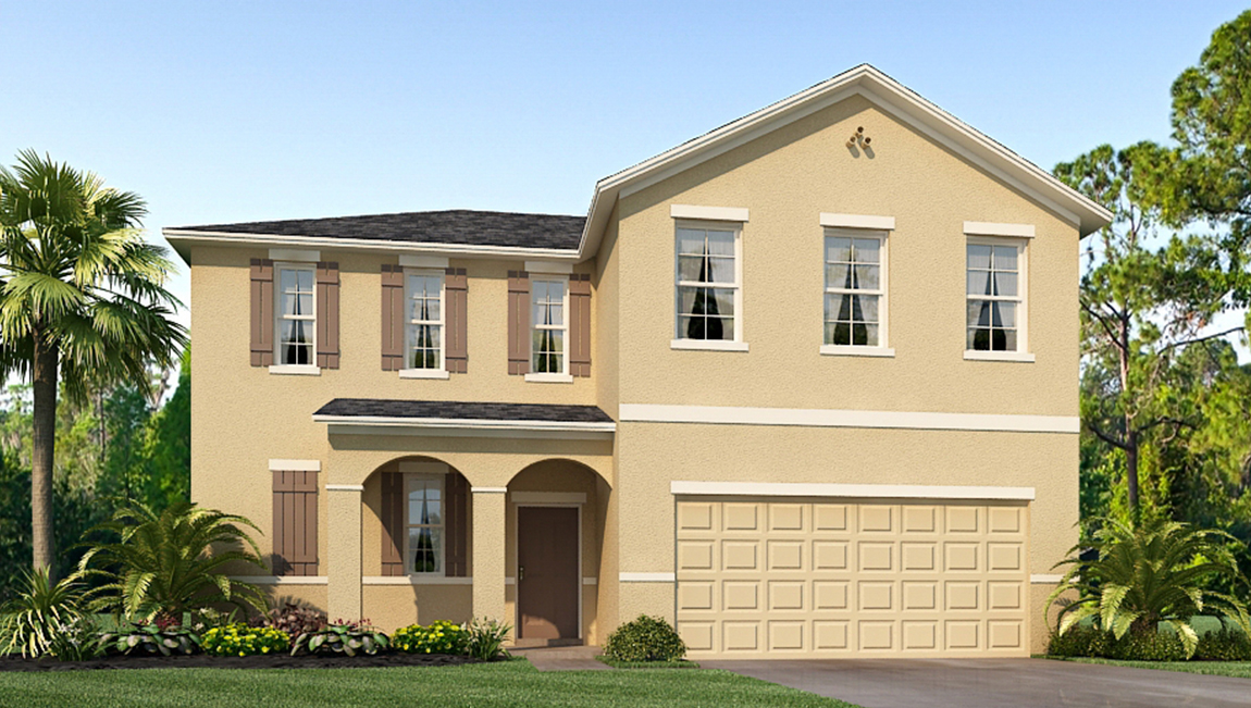 Riverview Meadows The Belfort 2,394 square feet 4 bed, 2.5 bath, 2 car, 2 story Riverview Fl