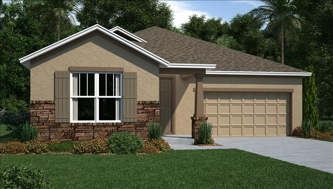 The Reserve at Pradera The Carlisle 2,203 – 2,213 Sq Ft 4 Beds 3 Baths 2 Car Garage Riverview Fl