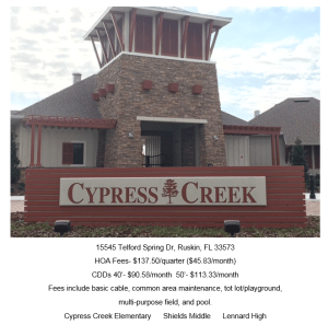 Read more about the article Cypress Creek Ruskin Florida 33573