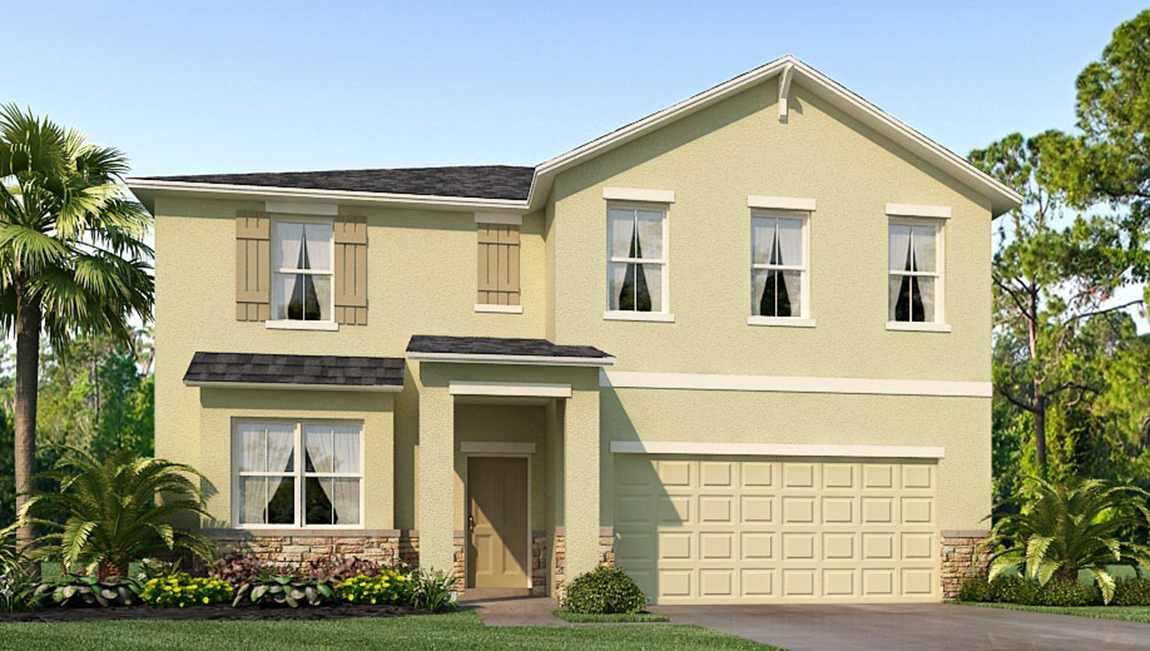 Avalon Park West The Embry 3,020 square feet 5 bed, 2.5 bath, 2 car, 2 story Wesley Chapel Fl