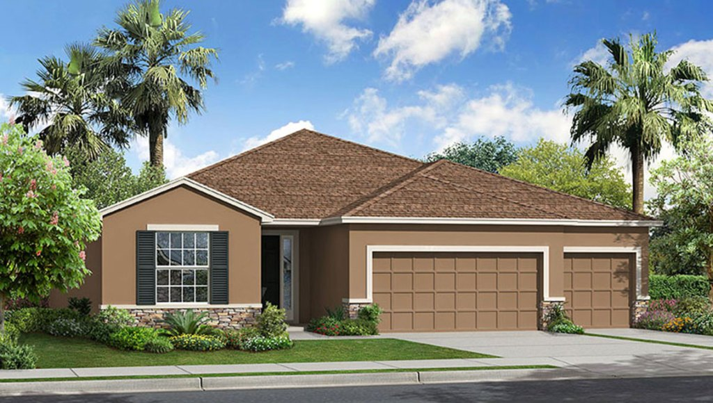 Avalon Park West The Hawthorne 2,558 square feet 4 bed, 3 bath, 3 car, 1 story Wesley Chapel Fl