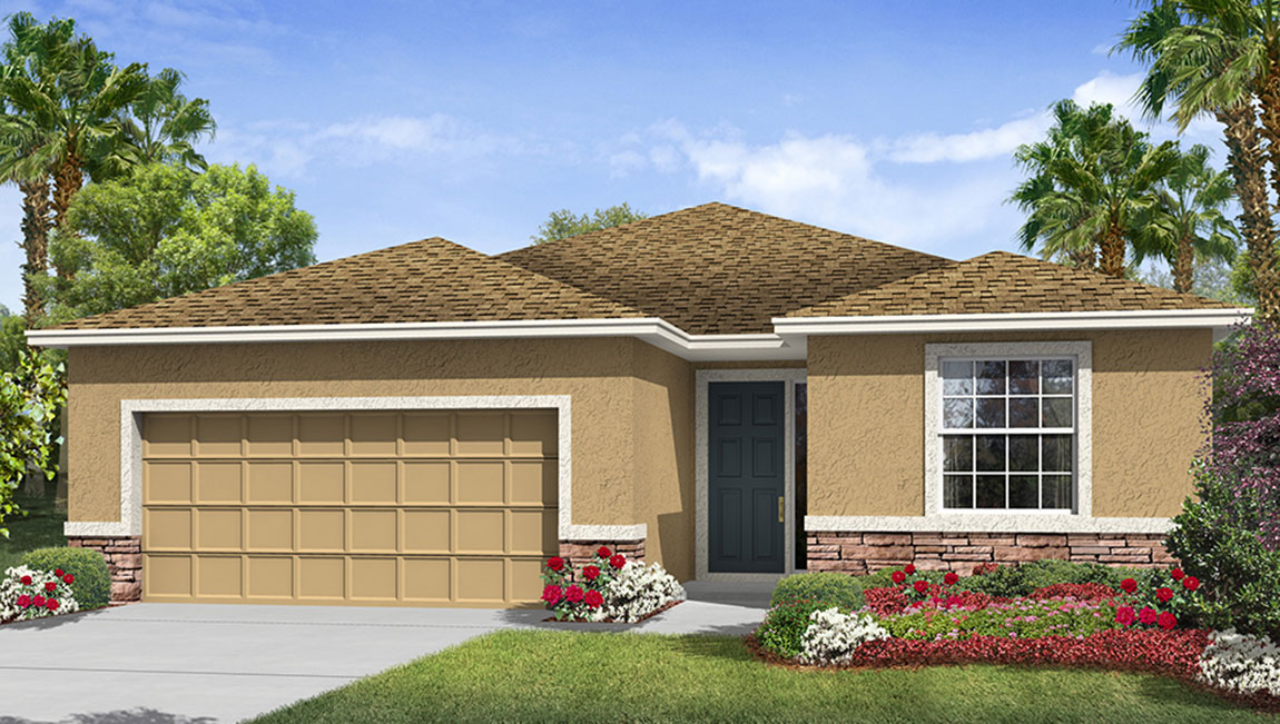 Riverview Meadows The Lantana 2,045 square feet 3 bed, 2.5 bath, 2 car, 1 story Riverview Fl