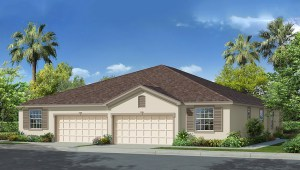 Windchase Villas The Siesta 1,565 square feet 3 bed, 2 bath, 2 car, 1 story Wesley Chapel Fl