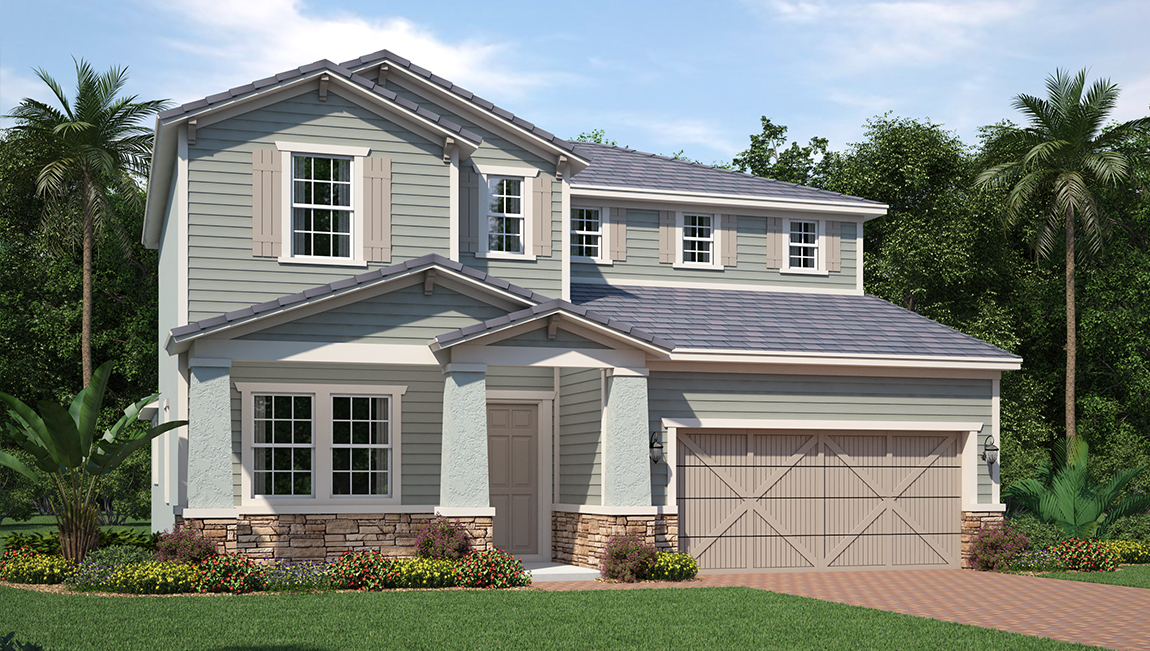 South Tampa Living The Weston 2,766 square feet 4 bed, 3.5 bath, 2 car, 2 story South Tampa Fl